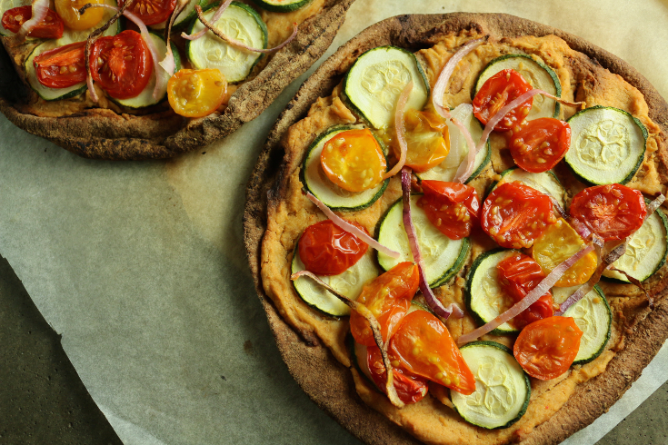 vegan pita pizza veganprogram