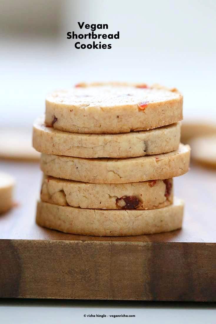 Vegan Coconut Oil Shortbread Cookies With Pumpkin Pie