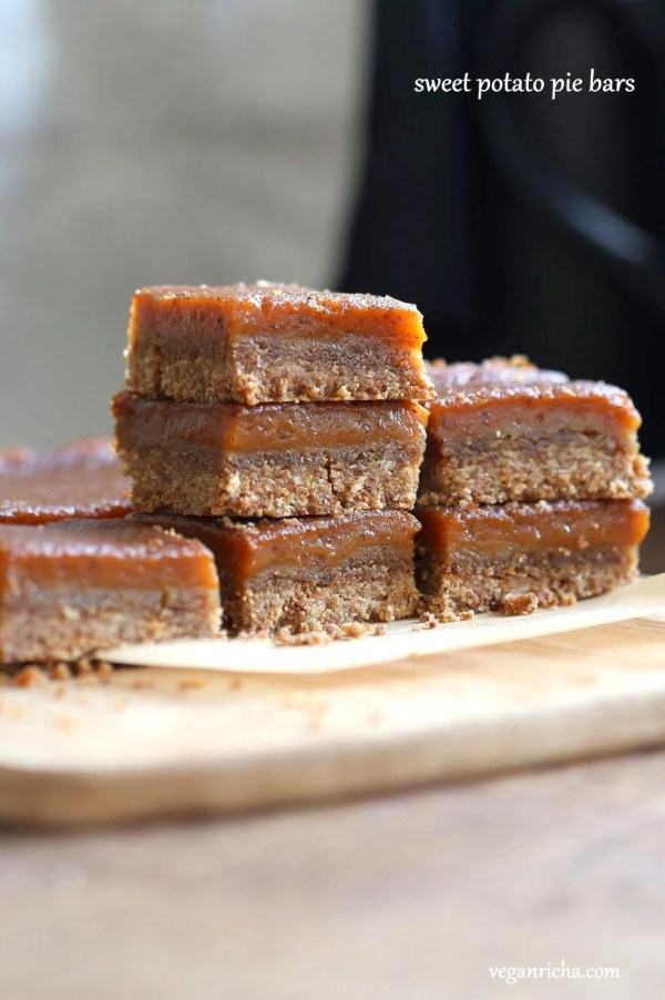 Vegan Sweet Potato Pie Bars Vegan Richa