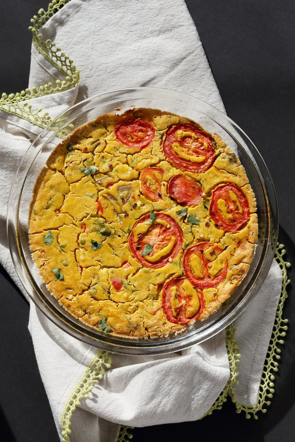 sprouted kitchen book movable island with seating chickpea flour frittata - eggless vegan richa