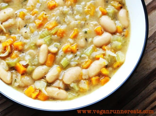 Vegan cannellini bean soup recipe