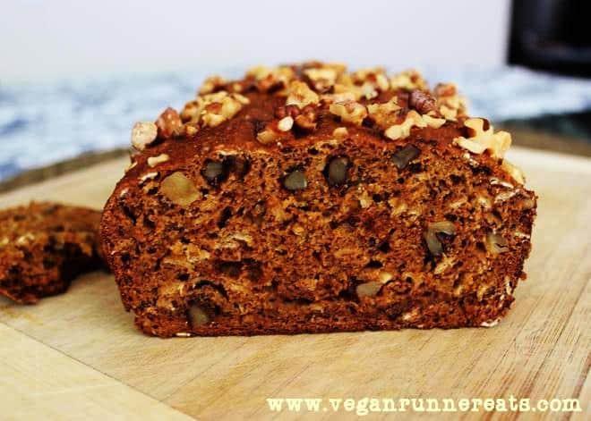 Homemade Vegan Pumpkin-Walnut Bread