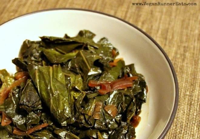 Vegan collard greens recipe in a slow cooker: a Southern classic