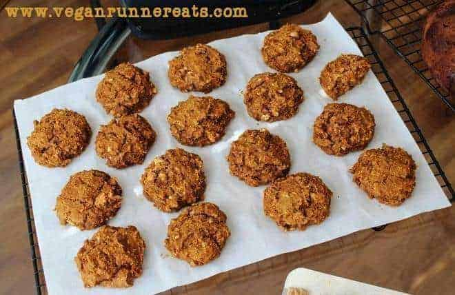 Vegan peanut butter cookies recipe with pumpkin