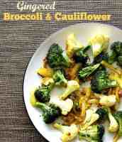 Gingered broccoli and cauliflower recipe