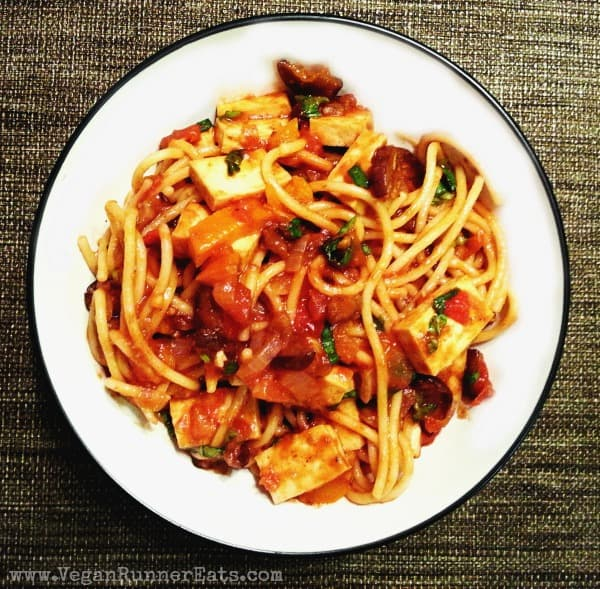 Tofu Cacciatore by Healthy Girl's Kitchen Blog