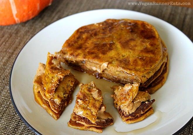 Vegan Pumpkin-Carrot Pancakes Recipe