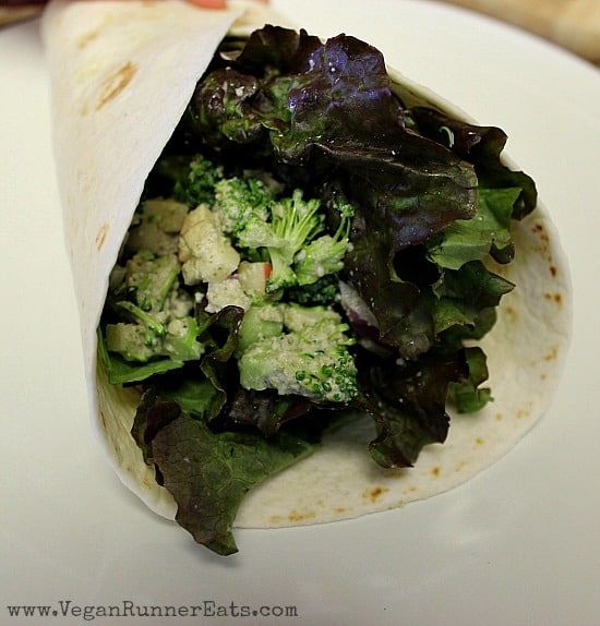 Broccoli Apple Winter Salad Burrito
