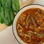 Hearty Chickpea and Shiitake Mushroom Soup Recipe