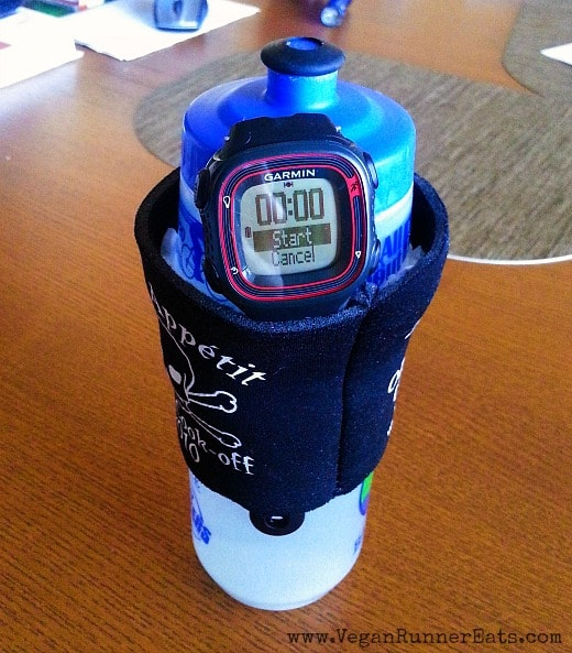 How to carry a Garmin GPS watch with a broken wristband