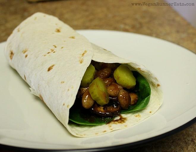 Barbecue Portobello Wrap with Homemade BBQ Sauce