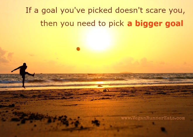 If a goal you've picked doesn't scare you, then you need to pick a bigger goal