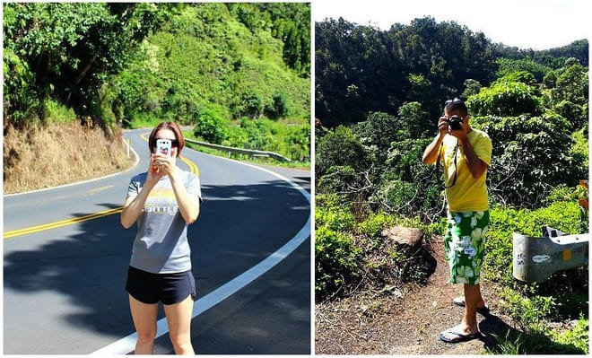 Taking pictures on Hana Highway in Maui, Hawaii.jpg