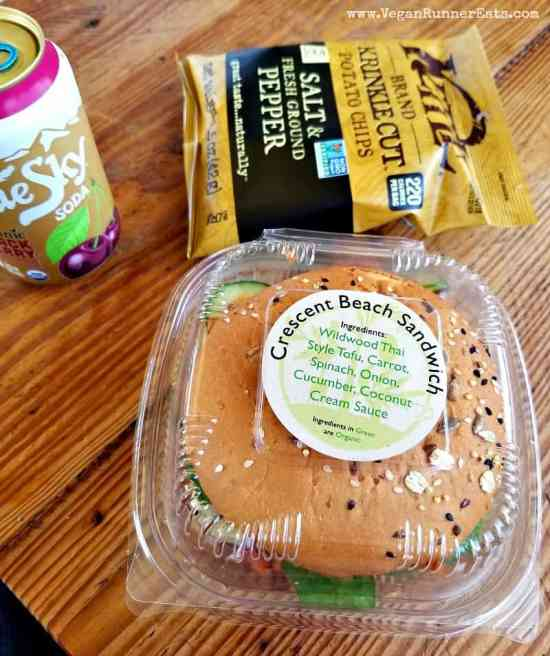 Vegan sandwich at the co-op on Orcas Island | Vegan food options on Orcas Island, WA