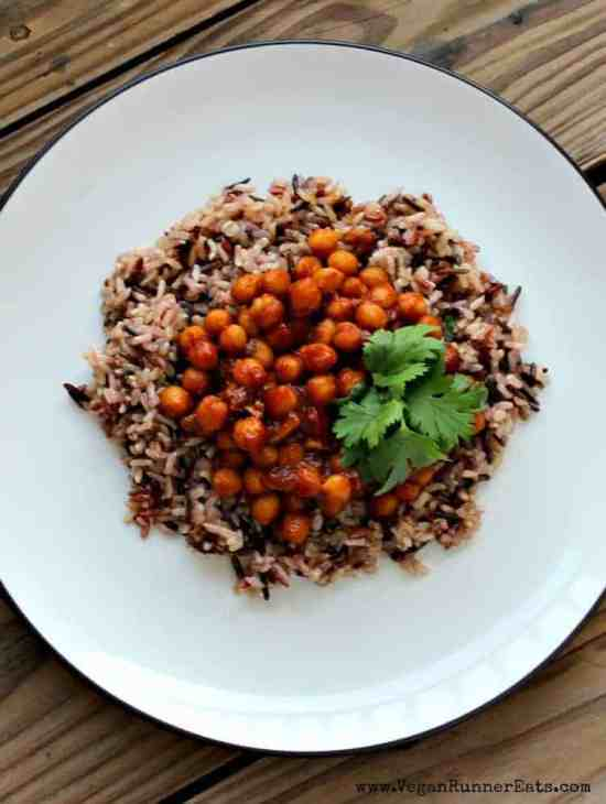 Vegan Barbecue Chickpeas and Rice Recipe