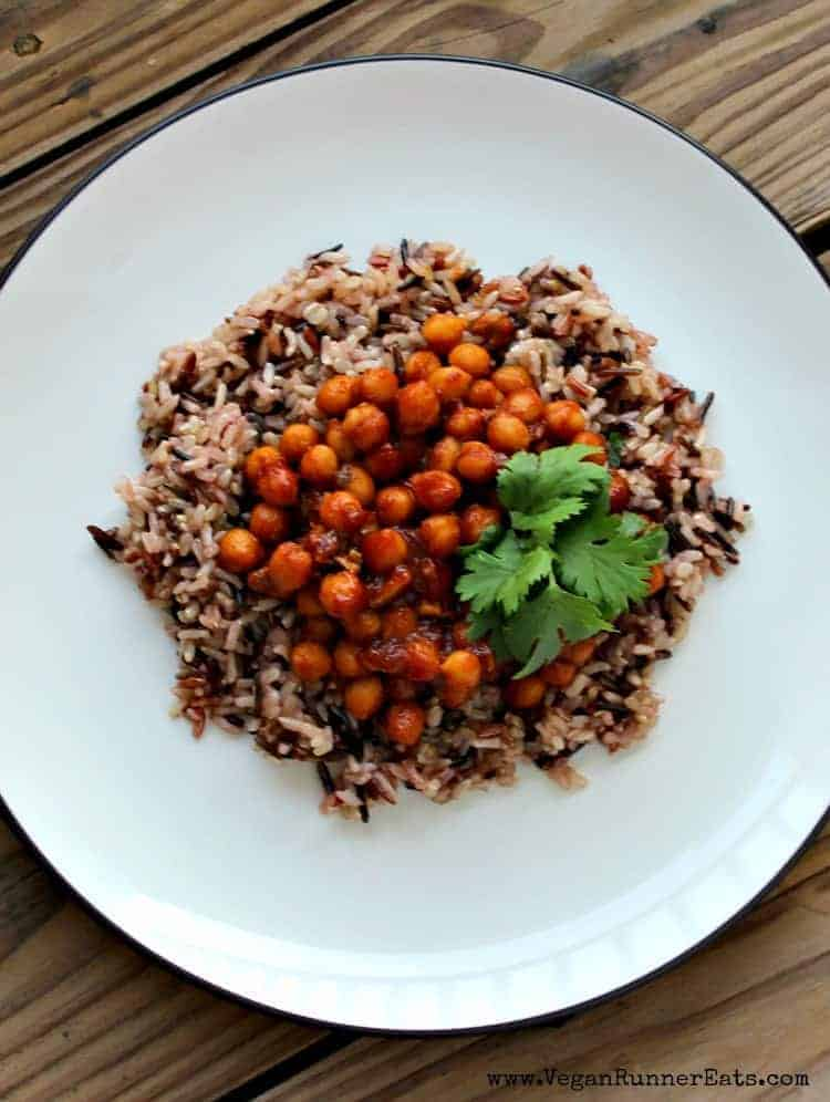 Barbecue Chickpeas and Rice