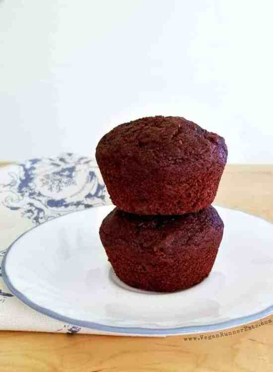 Healthy chocolate chip muffin recipe | dairy-free, egg-free, oil-free vegan chocolate muffin recipe