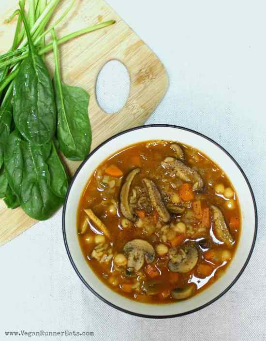 Chickpea and Shiitake Mushroom Soup Recipe - a vegan soup recipe with mushrooms and chickpeas