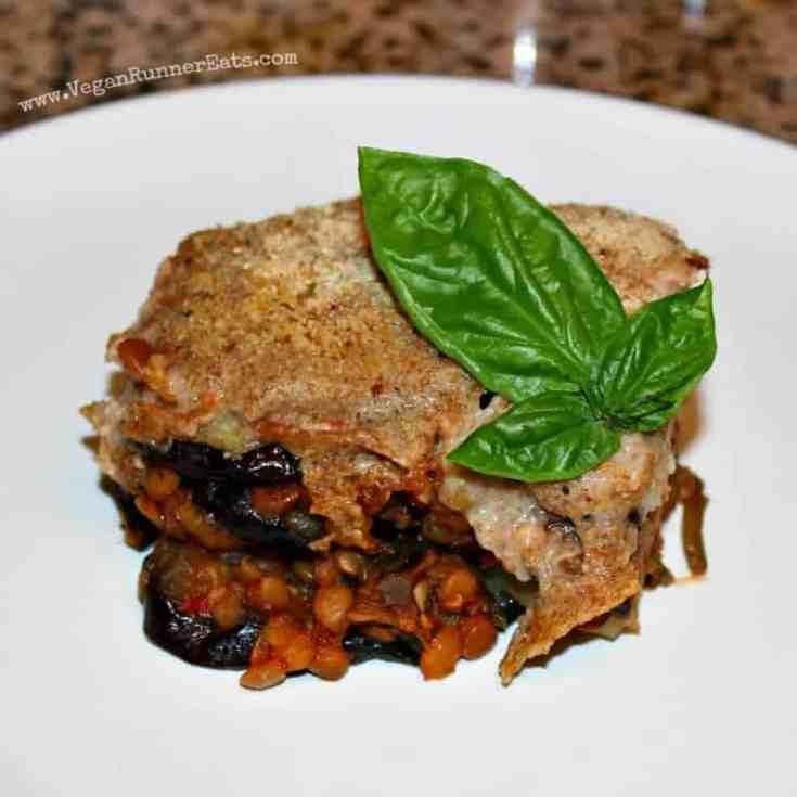 Vegan Greek Moussaka with Lentil-Tomato Sauce