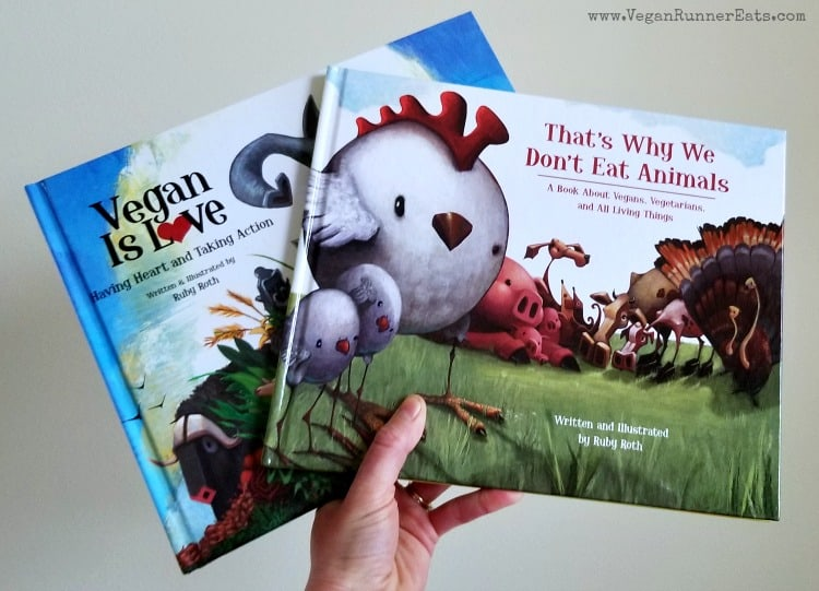 Vegan childrens books by Ruby Roth from a list of 20+ resources for vegan parents and kids