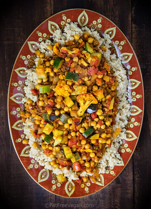 Cumin-Infused Vegetables & Chickpeas