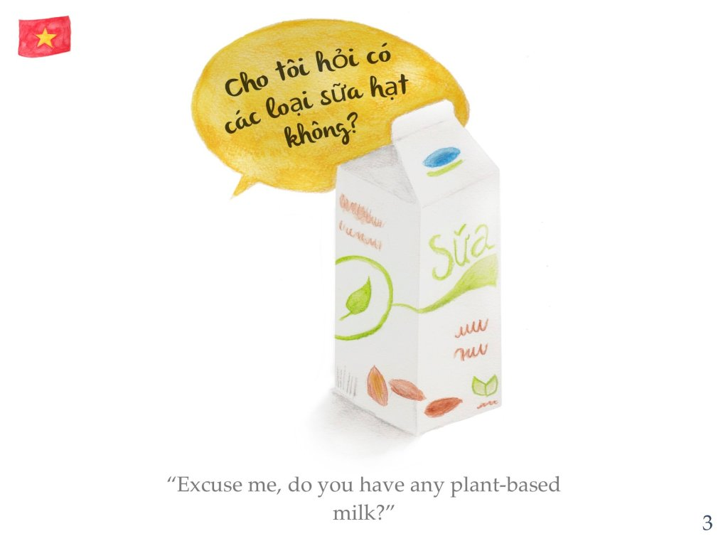 Vietnamese phrase 3 - any plant-based milk?