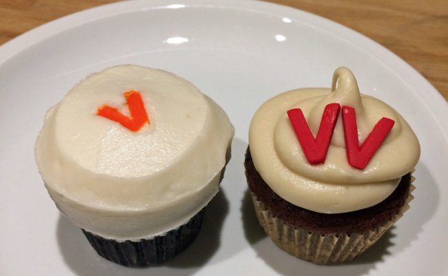 "The ♕Queen♕ of vegan options: <br>The <i>Sprinkles</i> Vegan <span style=""color: #ff0005;"">Red Velvet</span> Cupcake"