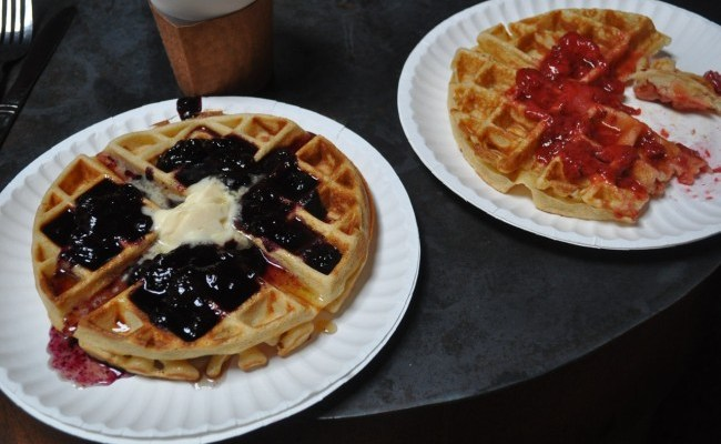 Waffles at Pine Box Rock Shop