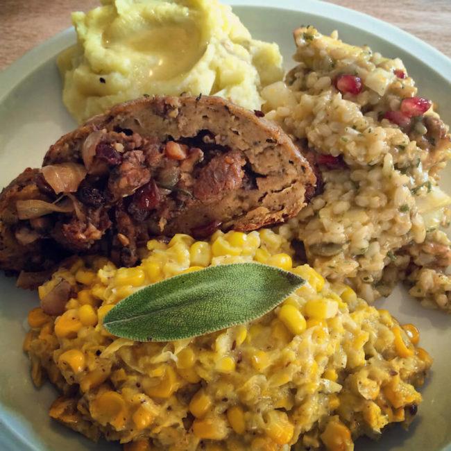 the Vegan Thanksgiving Spread
