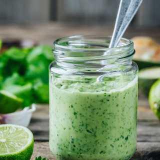 Cilantro Lime Avocado Sauce for Tacos