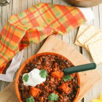 Kick-Ass Sweet Potato & Persimmon Black Bean Chili