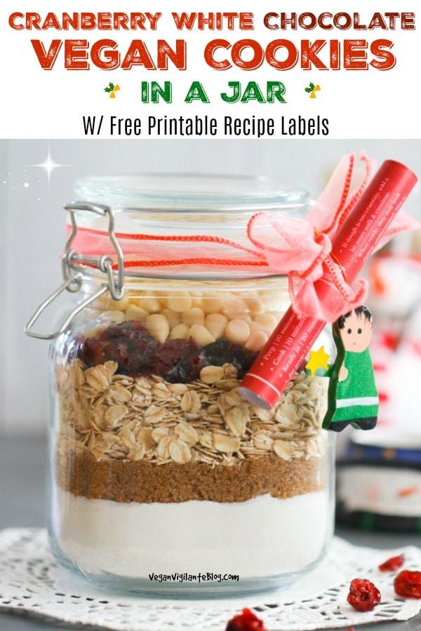 Vegan Cookies in a Jar