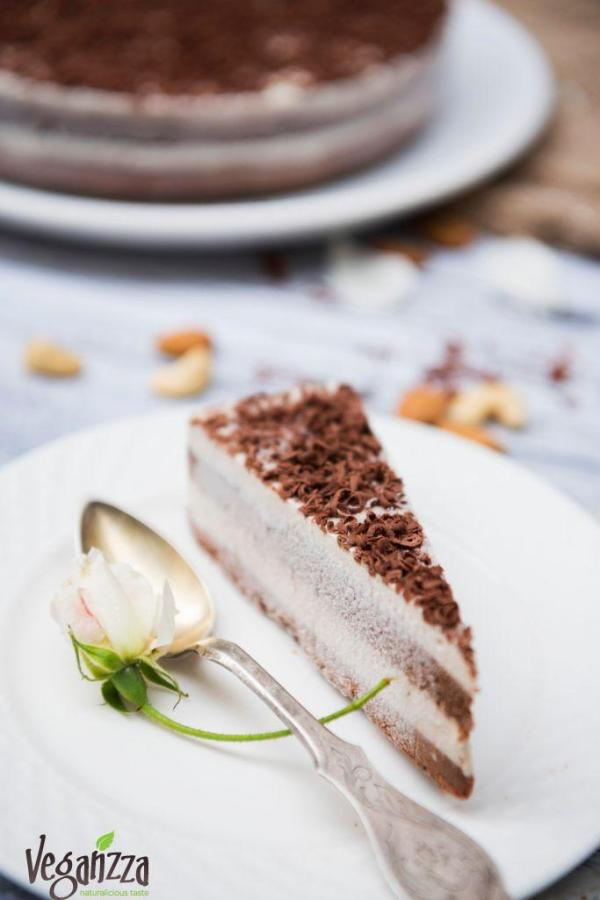 Prajitura cu ciocolata si vanilie Duo