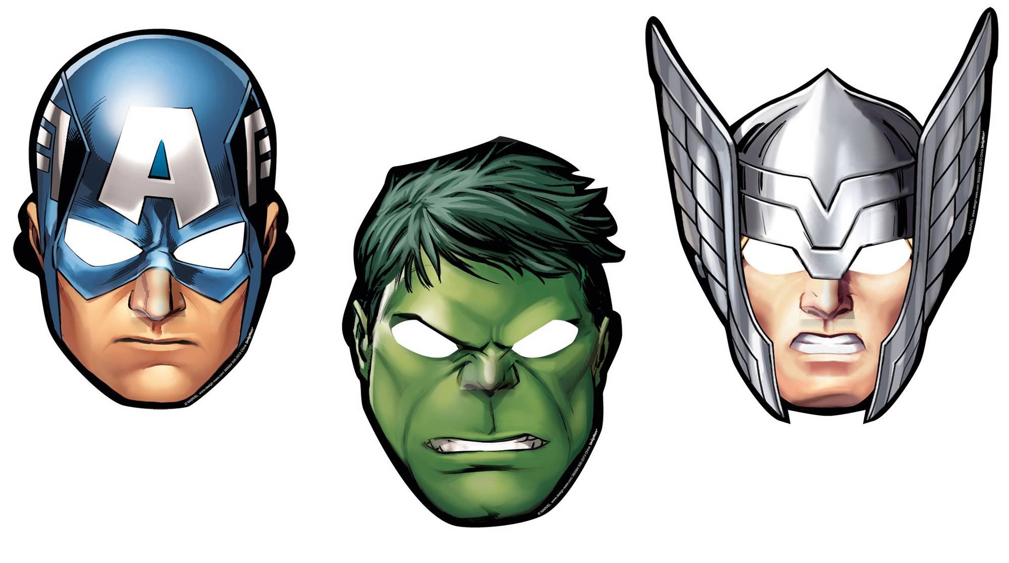 8 Masques En Carton Avengers Dcoration Anniversaire Et