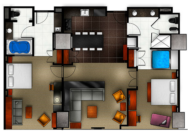 Elara a Hilton Grand vacations  2 king 2 bedroom Premier Suite with sofabed