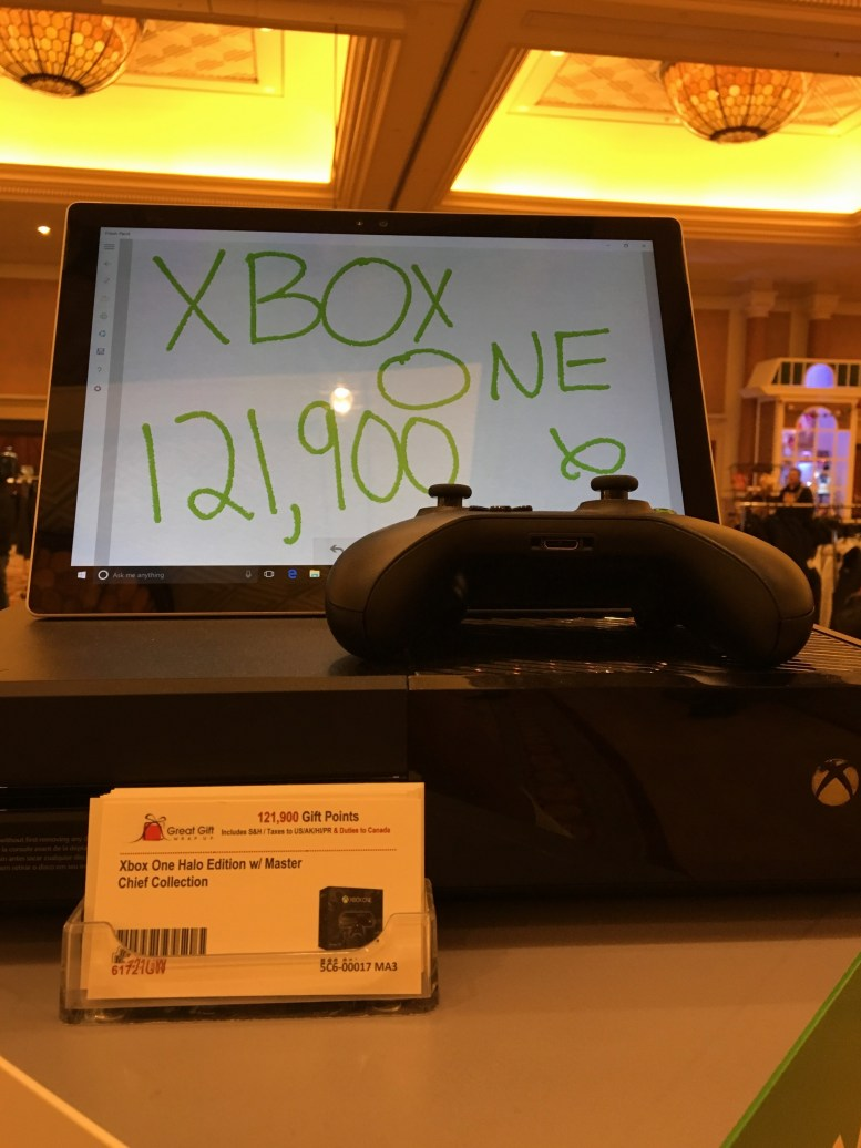A close up of the Xbox One display and its card