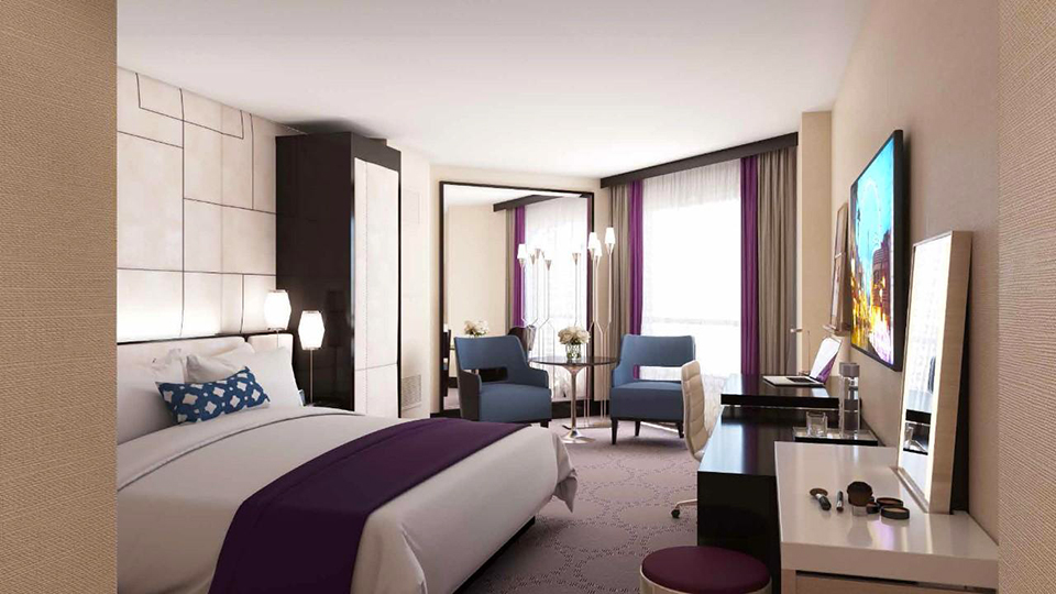 Harrahs New Carnaval South Tower Rooms  Vegas Bright