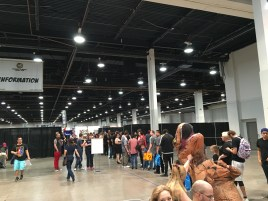 The long line for WWE Diva Paige