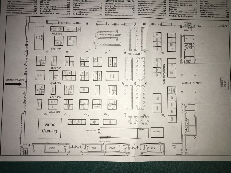 The overall map of the main convention hall