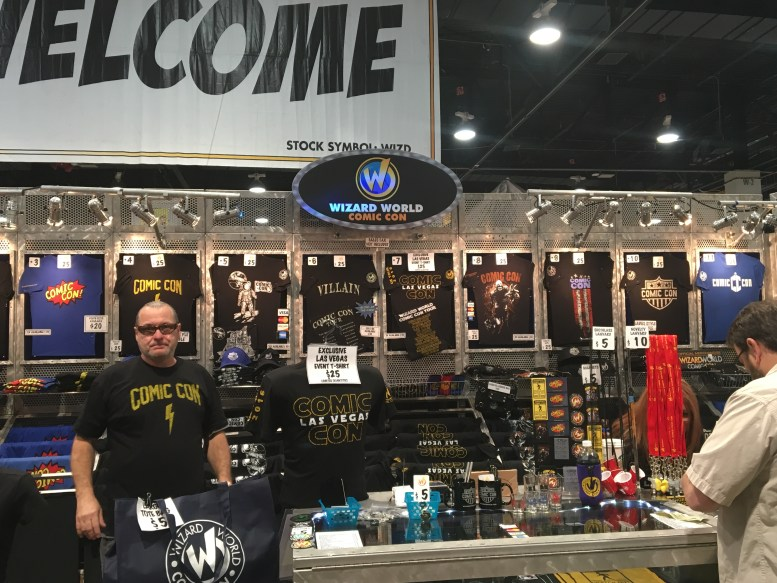 The convention store, selling event specific and Wizard World items