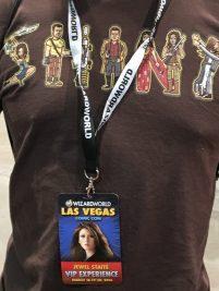 Jewel Staite on the VIP badge
