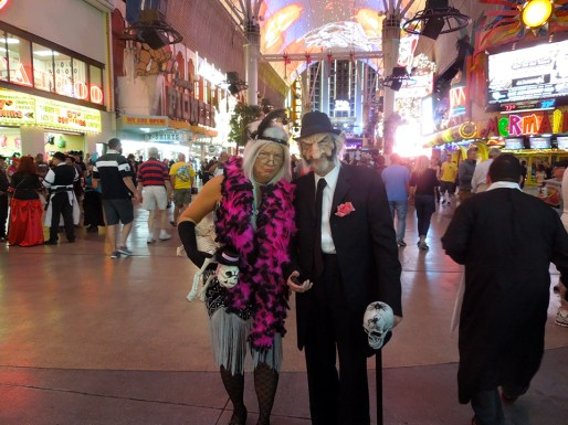 Blonde4ever Does Fremont Street On Halloween Vegas Bright