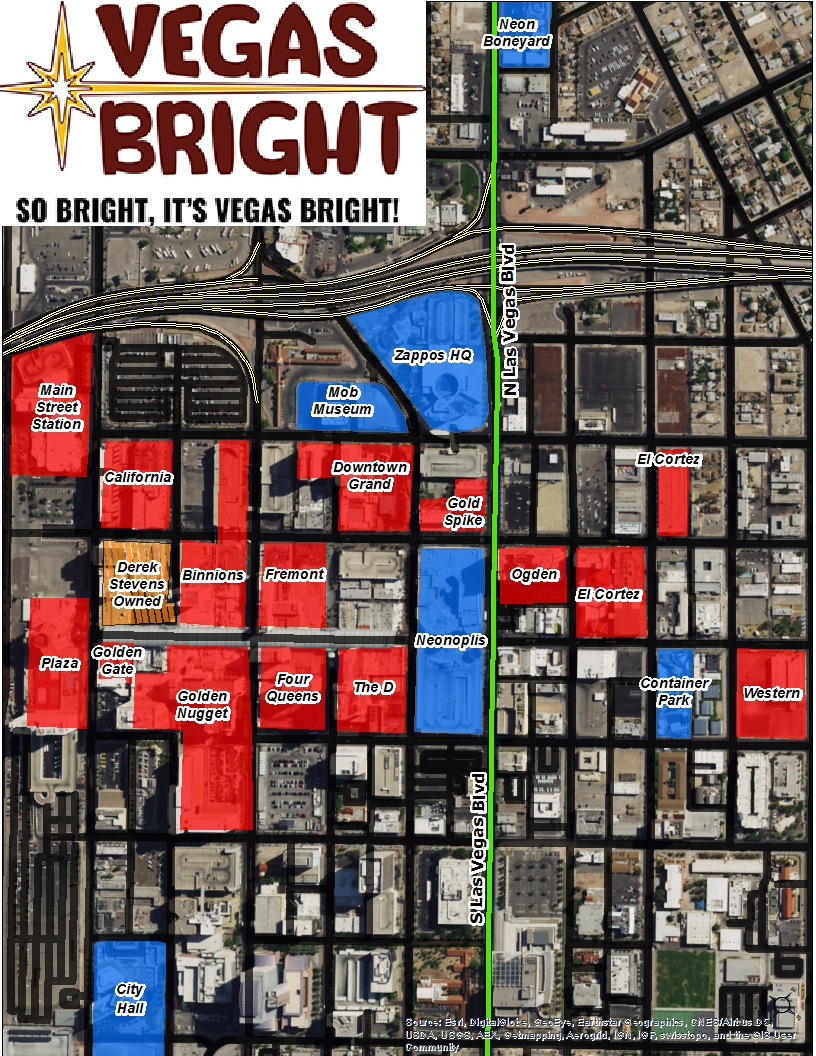 The Downtown Map • Vegas Bright on