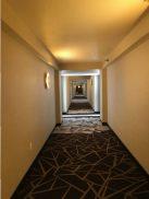 The renovated resort room hallway.