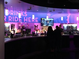 The full bar with frozen drinks.