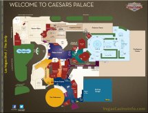 Caesars Property Map - Casino And Hotel Layout