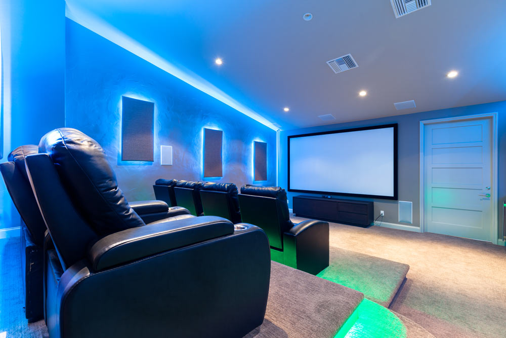 Media And Games Rooms Las Vegas Martin Homes Inc
