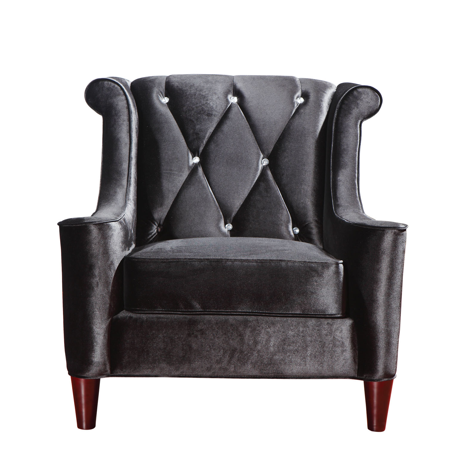 black velvet chair bedroom philippines barrister tufted with rhinestones las vegas
