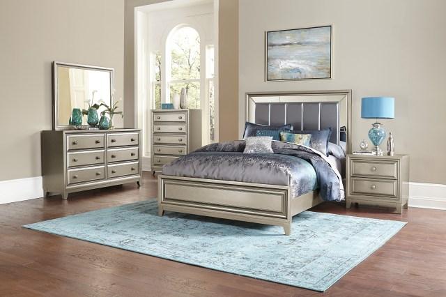 Hedy Silver 4pc Bedroom Set | Las Vegas Furniture Store ...