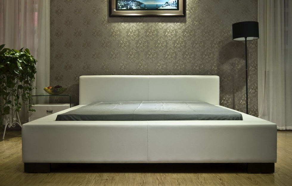 Cicero White Platform Bed Las Vegas Furniture Store